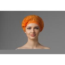 Шапочка медицинская Шарлотта оранжевая 100 шт.