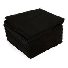 Полотенце малое 35*70 см. White line спанлейс черный 50 шт, слож. non-stop