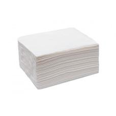 Полотенце тисненое 35*70 см. White line спанлейс белый 50 шт, слож. non-stop
