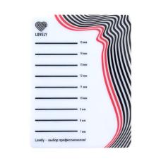 Планшет для ресниц Lovely № 1 (широкий 1 ряд)